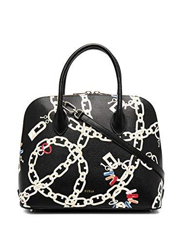 Luxury Fashion | Furla Dames 1065949 Zwart Leer Handtassen | Lente-zomer 20
