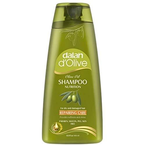 3 x Dalan d'Olive Shampoo Repairing Pflege - trockene/geschädigte Haare - 400 ml