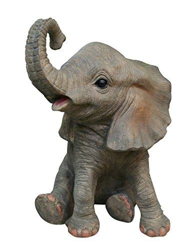 Fachhandel Plus Niedliche Dekofigur Elefant Glückselefant Afrika Deko afrikanische Skulptur