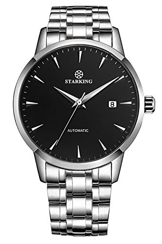 Herren Edelstahluhr Automatische Mechanische Uhren Datumskalender Business Armbanduhr