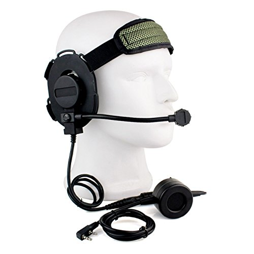 Buwico HD01 Z Tactical Bowman Elite II 2 Pin Headset Ohrhörer mit U94 Stil PTT für Kenwood Zwei Wege Radios Baofeng woxun PUXING Walkie Talkies