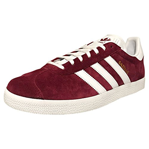 Adidas Gazelle, Zapatillas Hombre, Rojo (Collegiate Burgundy/Footwear White/Footwear White 0), 45 1/3 EU
