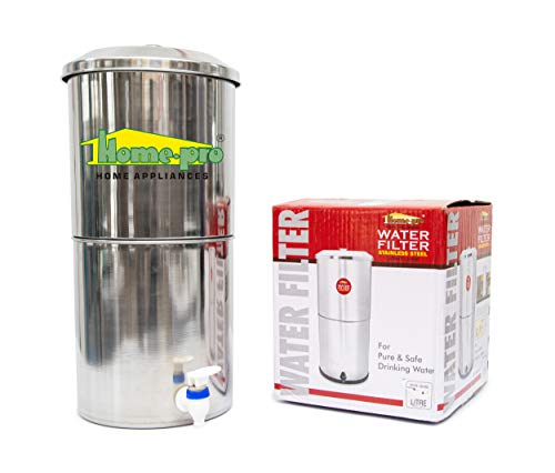 Home-Pro Stainless Steel None Electric Water Filter with 1 Candle - 16 liters