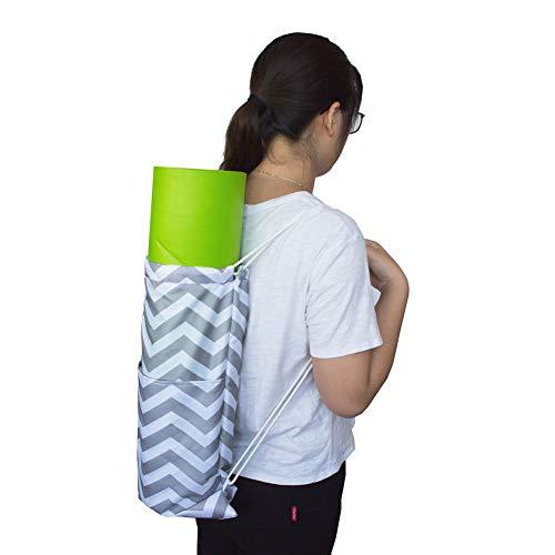 PPING Bolsa De Yoga Funda Esterilla Yoga Yoga Mat Bolsa Grande Esterilla y Bolsa de Yoga Bolsas y portabebés para Yoga Yoga Cubierta de la Bolsa Gray-White,-