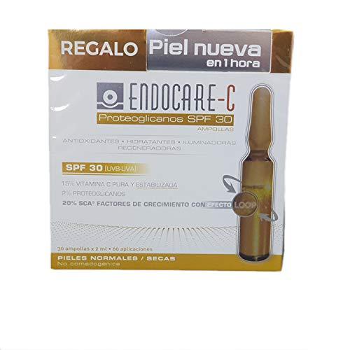 Endocare Radiance C Proteoglicanos Oil-free - Ampollas Faciales Antiedad, Regeneradoras y Antioxidantes, con Vitamina C, Todo Tipo de Pieles, 1 unidad, 30 ampollas x 2ml