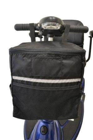 Diestco Soft Basket Scooter Accessory   Storage Bag Easily Attaches To Mobility Scooter Tiller   Storage For Personal Belongings, Valuables, Groceries, Etc.