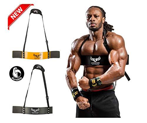 Ulisses Jnr U Apparel - Blaster de brazo de alta calidad con tirantes de apoyo, para tamaño y fuerza, negro / amarillo, talla única