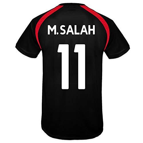 Liverpool FC - Herren Trainingstrikot - Offizielles Merchandise - Schwarz - LFC Salah 11-3XL