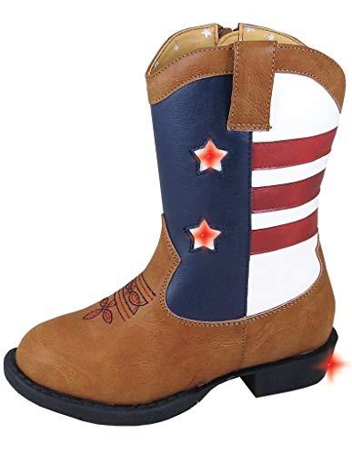 Smoky+Children+Austin+Lights+Cowboy+Boot+-+Flashing+Lights%2c+Tan