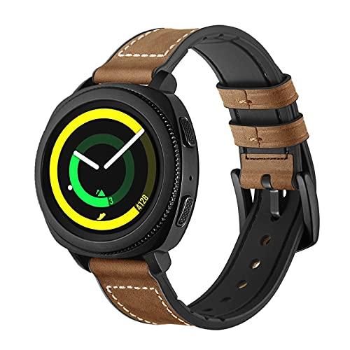 Correas de Cuero Compatibles con Samsung Gear S4 / Correa de Repuesto de Correa de Cuero Genuino Vintage, Accesorios de Pulsera, para Hombre y Mujer de 6.1 a 8.7 de Muñeca