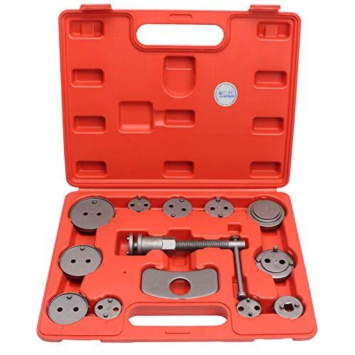 CCLIFE Caja con herramientas para reponer pinzas de freno,set de herramientas para vehículos, 13 piezas, para diferentes marcas