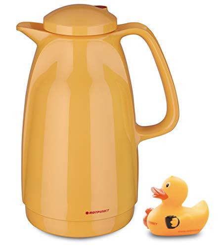 ROTPUNKT Isolierkanne 227 Bella 1,5 l | BPA-frei - gesundes Trinken | Made in Germany | Warm + Kalthaltung | rubberduck