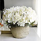 Ramos de hortensias de seda artificial para novia hogar decoración de la boda barato florero mesa arreglo partido flores falsas