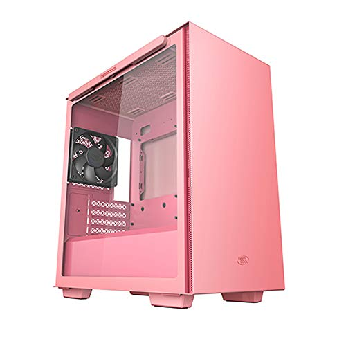 DEEPCOOL MACUBE 110 Pink Micro ATX Computer Case - Gaming Cabinet with Magnetic Tempered Glass with up to six 120mm or Four 140mm Cooling Fans Support and radiators up to 280mm on top and in Front