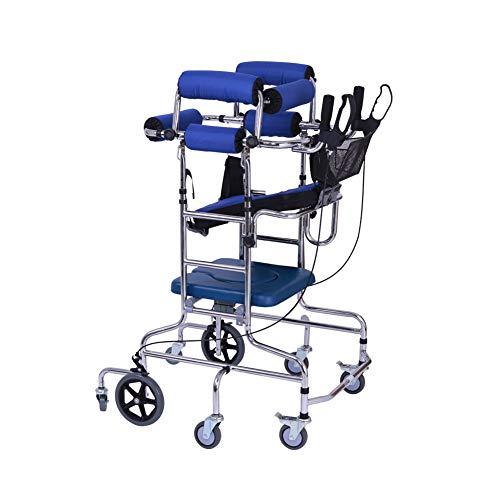 Rollator Walker met gevoerde zitting, verstelbare remmen, ergonomische handgrepen, instelbare hoogte, beperkte mobiliteit voor vrouwen