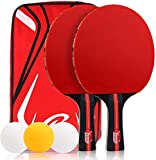 Etmury Ping Pong Paddle Set,Table Tennis Rackets, 2 Premium Rackets 3 Ping Pong Balls Incl with...