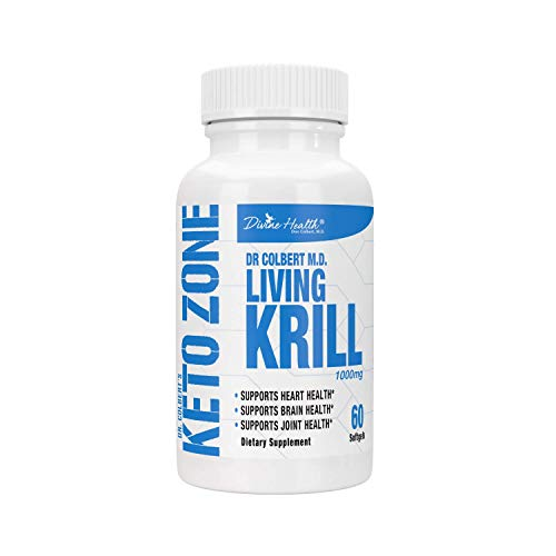 Dr.Colbert's Living Krill Oil 1000mg Per Softgel Plus DHA & EPA (60 Servings)