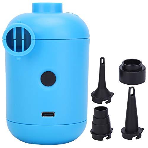 Annjom Inflador eléctrico para Botes, Bomba de Aire USB, Conveniente Azul Potente...