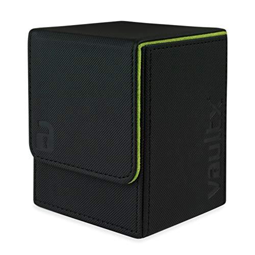 Vault X ® Premium eXo-Tec Sammelkarten Box für 100+ Karten - ohne PVC Karten Halter für Spielkarten zum Sammeln und Tauschen (Schwarz)