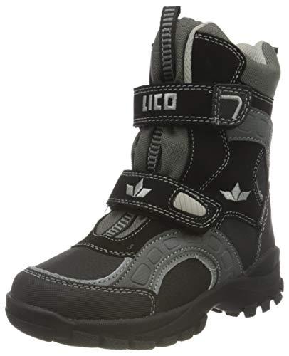Lico Chłopięce buty zimowe Samuel V, czarny - Schwarz Schwarz Grau - 37 eu