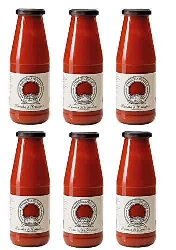 Azienda Agricola Prunotto Mariangela Passata di Pomodoro Biologica - 690 gr, Confezione da 6 bottiglie