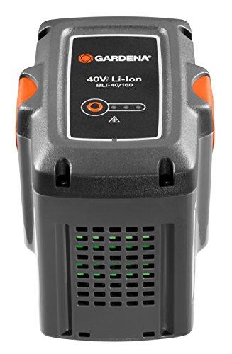 Gardena System Akku BLi-40/160: Zubehör für viele Gardena Trimmer, Bläser und Heckenscheren, 40 V Akkuleistung mit 4.2 Ah Kapazität, Ladezeit 2 h 20 min, LED Ladezustandsanzeige (9843-20)