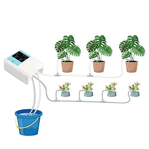 Sistema de riego automático, sistema de riego por gota, inteligente de carga solar, sistema de riego en maceta automática para plantas de interior, carga de la interfaz USB