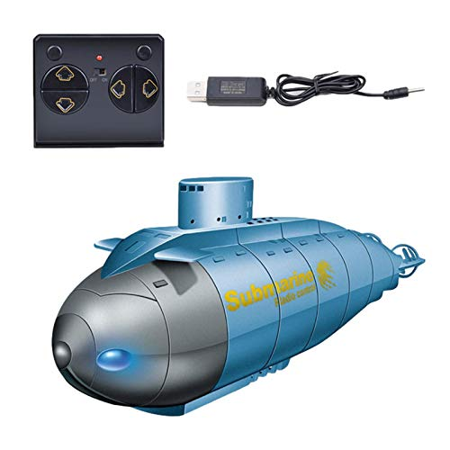 A/A 6CH Led Remote Control Submarine, RC Diving Boats Toys Mini Simulation Military Model Electronic Water Boats Gifts for Swimming Pools Lakes for Kids Boys