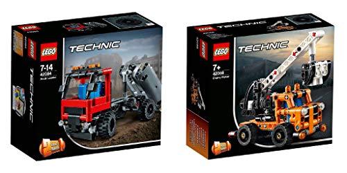 Steinchenwelt Lego® Technic 2er Set: 42084 Absetzkipper + 42088 Hubarbeitsbühne