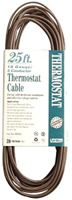 Coleman Cable CL2 Bulk Thermostat Cable, 18-Gauge 5-Conductor, 25-Ft