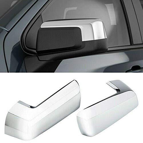 alittlepanda Signature Bright Triple Chrome Plated Top Half Chrome Mirror Cover Overlay Designed for 2019 & Up Chevy Silverado Sierra 1500