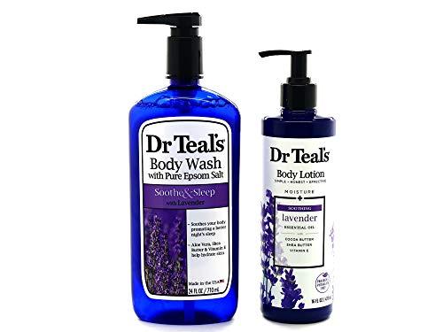 Dr Teals Lavender Body Wash w/Pure Epsom Salt - Bundle w/Dr Teals Lavender...
