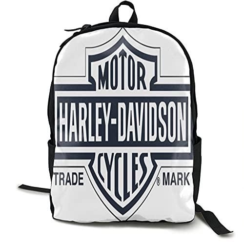 Harley Davidson Zaino per computer portatile da 15,6 pollici impermeabile ampio aperto College viaggi Business Borsa da lavoro per uomo/donna-nero