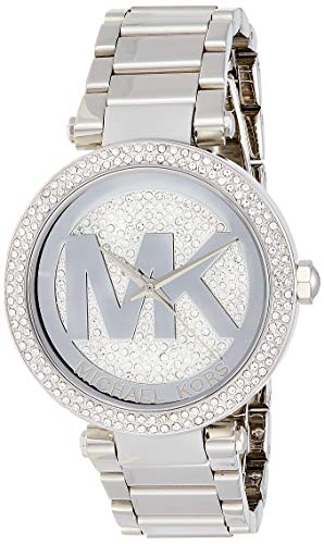 Michael Kors MK5925 Classic Analog Watch with Crystal Pave Set Bezel for Women