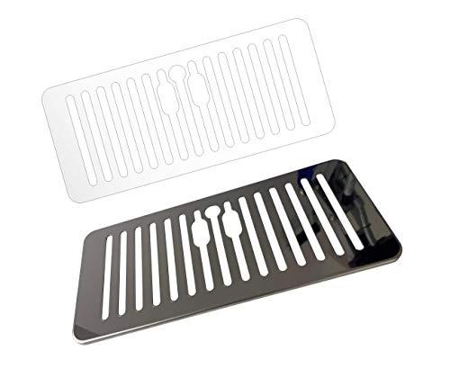 5 x Schutzfolie für DeLonghi PrimaDonna SOUL ECAM 610.75-610.74 - 610.55 SB - 612.55 SB Abtropfblech - Tassenablage - Tropfblech