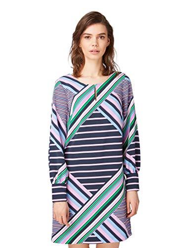 TOM TAILOR Damen 1008112 Kleid, Mehrfarbig (Multicolor Stripe De 16519), (Herstellergröße: 42)