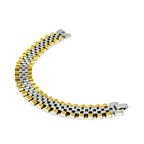 OH MY Gold Herren-Armband aus Stahl, zweifarbig, Grossa Modell Oyster