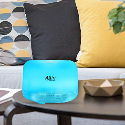 Allin Exporters DT-168G 500 ml Ultrasonic Humidifier & Essential Oil Aroma Diffuser with Timer and 7 Colorful LED Light Modes
