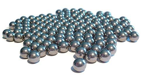 6,35mm Stahlkugeln, DIN 5401, 1.4034 Nirosta, Hart, rund, Zwille, Flitsche, Mahlkugeln, Metallkugel (500g)