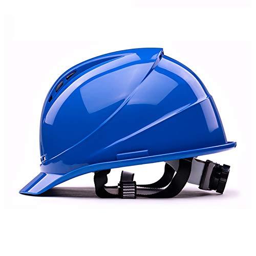 ZZXY Casco Seguridad, trinquete de suspensión de 4 Puntos Totalmente Ajustable, protección para la Cabeza Casco ventilado, para el Trabajo, el hogar y protección General para la Cabeza