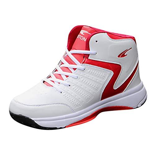 Azruma Herren Turnschuhe Mode Freizeitschuhe Sportschuhe Laufschuhe Atmungsaktiv Leichte Gym Fitness Sneaker Dicker Boden rutschfest Schuhe Stoßdämpfung Basketball Schuhe