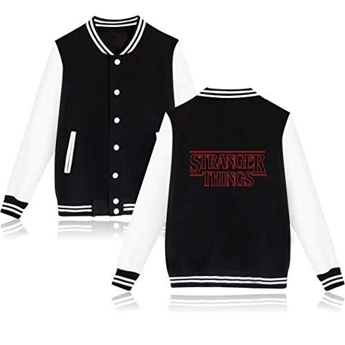 Flyself Unisex Baseball Uniformen Stranger Things Staffel Langärmlige College Baseball Jacke Sweatshirt Paar Sweatshirt Tops