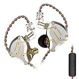 KZ ZS10 Pro In-Ear-Headset 4BA + 1DD Hybrid 10 Einheiten HiFi-Bass-Ohrhörer Sport Noise Cancelling-Ohrhörer (Mit Mikrofon, Blendung Gold)
