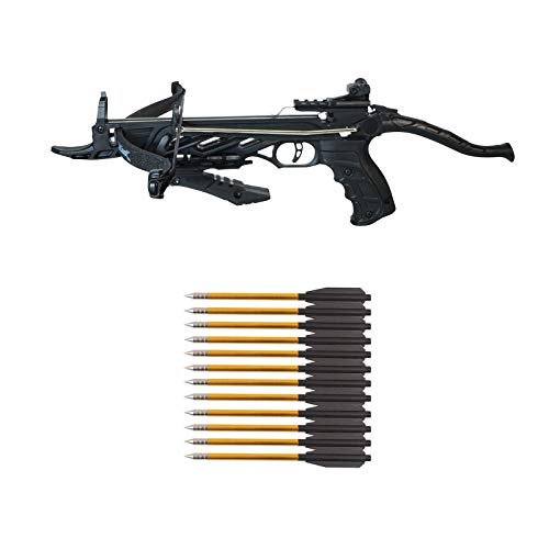 Southland Archery Supply 80 Pound Self-Cocking Pistol Crossbow (Pistol Crossbow with Grip + 27...