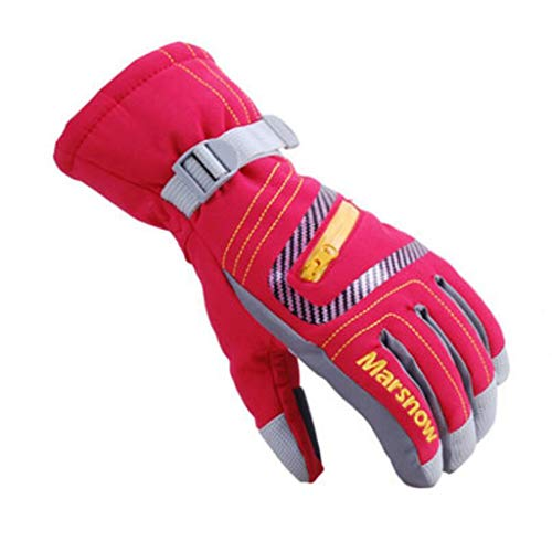 OMSLIFE Kinder Skifahren Handschuhe Skihandschuhe Kinder Schnee Handschuhe Outdoor Handschuhe Sport Handschuhe Winter Handschuhe für Kinder (Rot, S (6-8 Jahre alt))