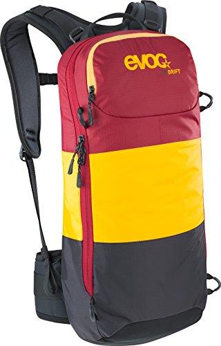 EVOC Protektor Rucksack FR Drift, Mud-Orange-Ruby, 56 x 27 x 7 cm, 10 Liter