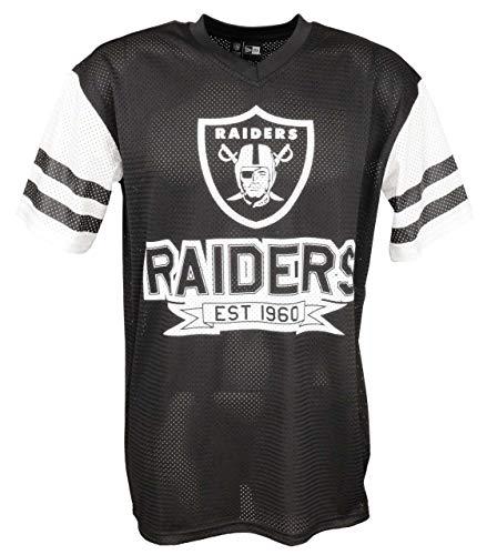 New Era Oakland Raiders T Shirt/tee NFL Contrast Sleeve