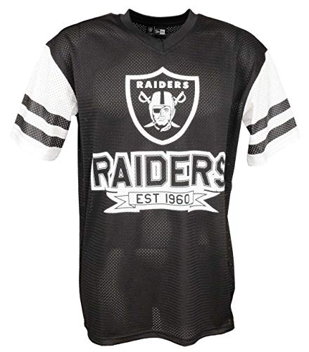 New Era NFL New Era Oakland Raiders T Shirt Jersey American Football Fanshirt Schwarz - L