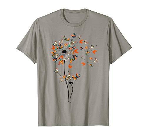 Dandelion Chicken Flower T-Shirt Floral Chickens Tree Lover T-Shirt