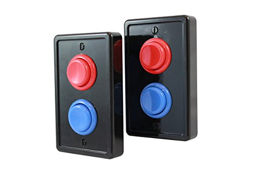 Arcade Light Switch Plate Cover, Single Switch (2 Pack- Black/Red/Blue), 1-Gang Standard Size Rocker Wall Plate, Game Room Decorator, Kid Bedroom Wallplate, Faceplate Replacement